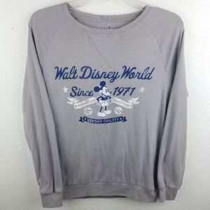 DISNEY PARKS Mickey Mouse Gray Sweatshirt